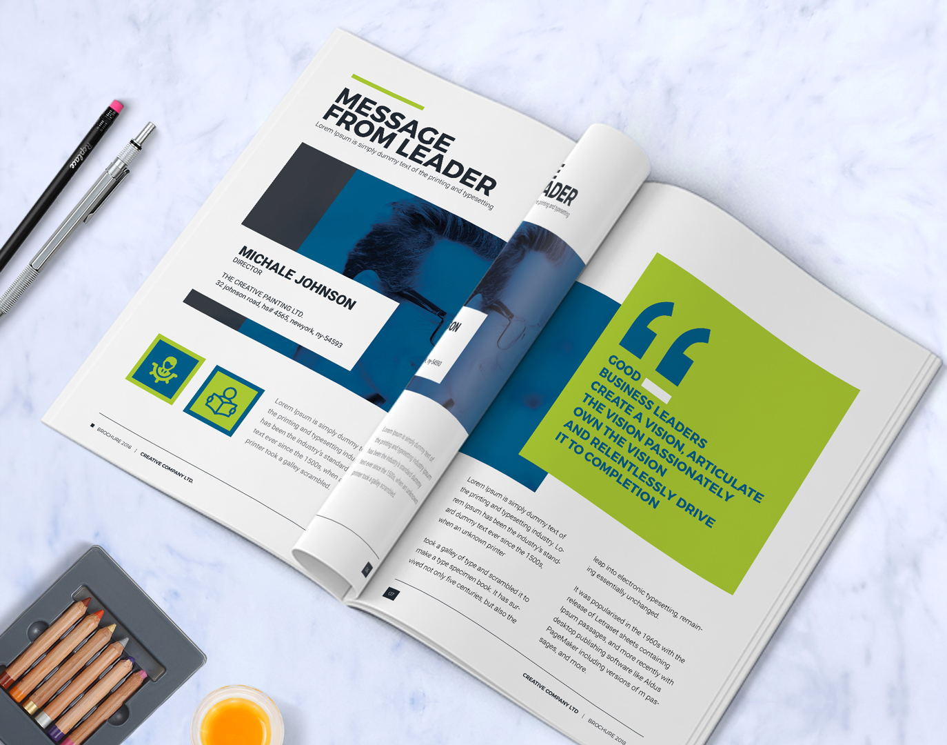 Business Brochure Design Template Indesign Brochure Company