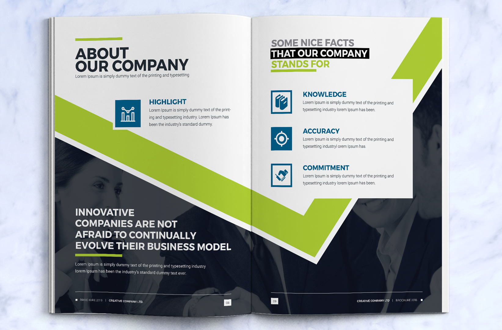 Business brochure design template indesign brochure for Company brochure design templates