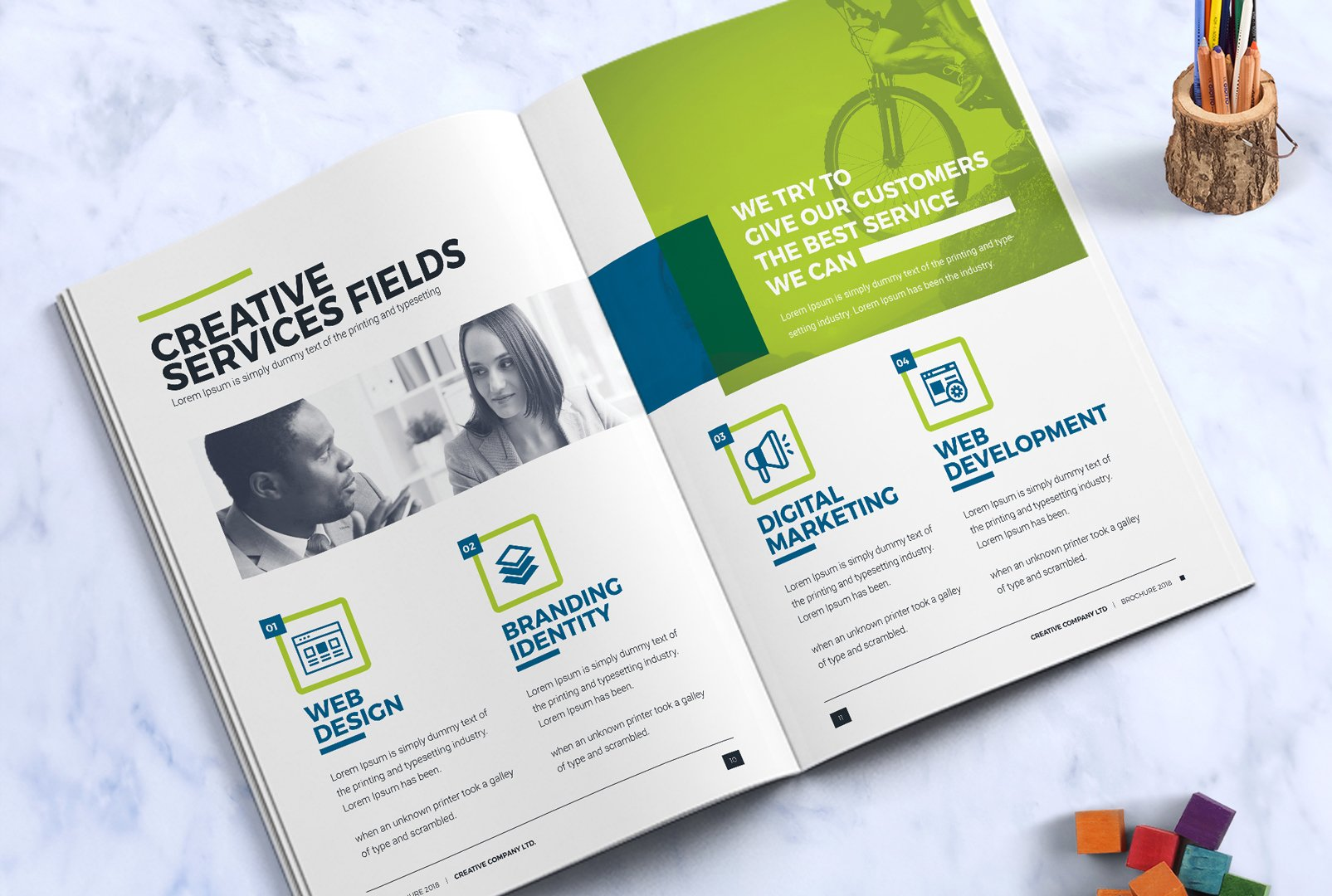 Business Brochure Design Template InDesign Brochure Company - Brochure design templates indesign