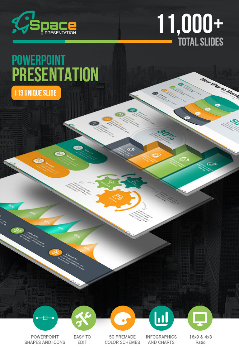 startup business presentation powerpoint template 67446