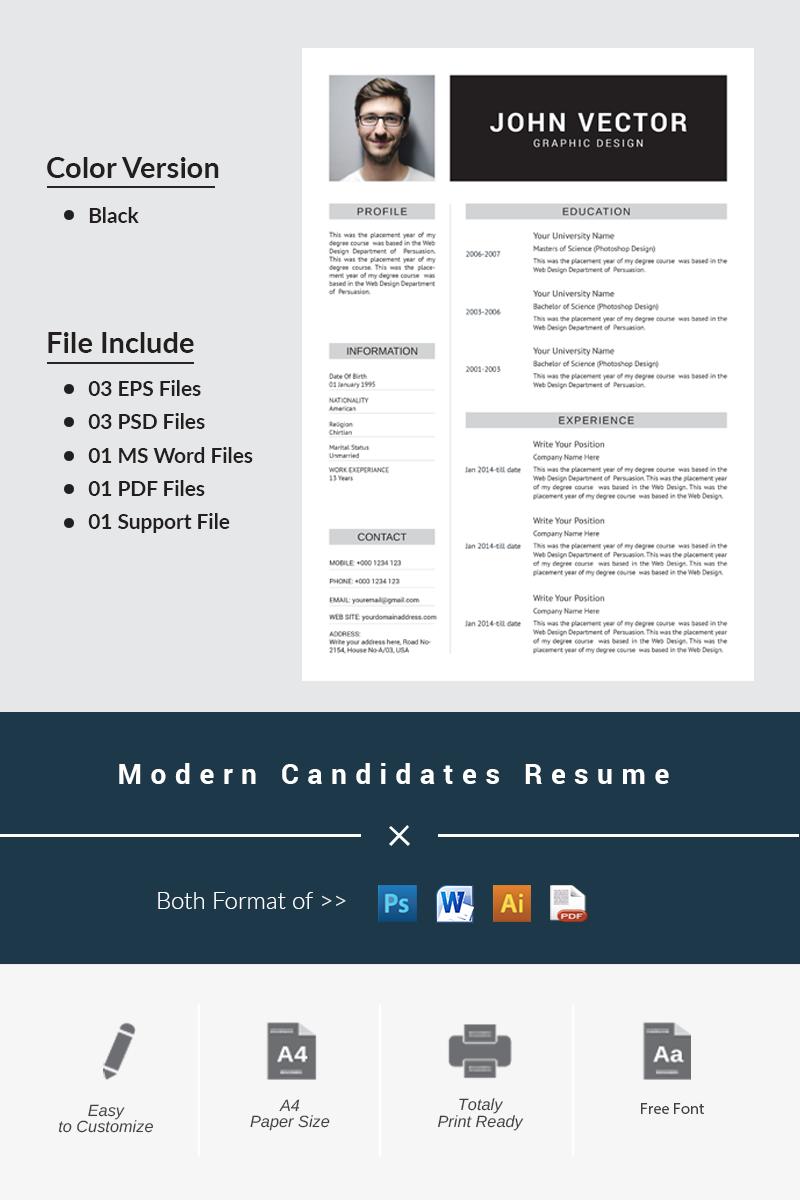 Sablona Pro Zivotopis Modern Candidates 66332