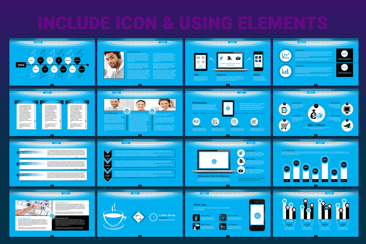 Animated Business PowerPoint Template #66991