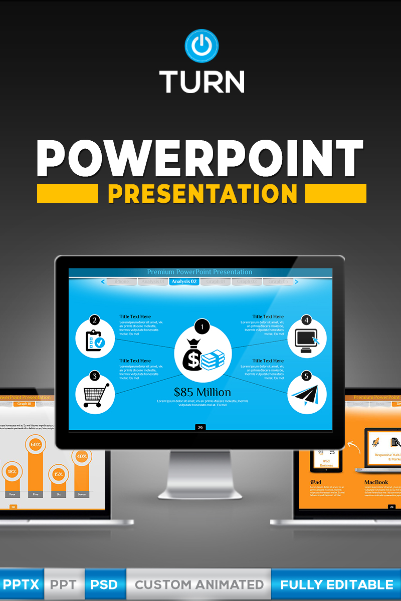 animated business design powerpoint template #66991, Modern powerpoint