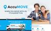 AccuMOVE! - thème WordPress adaptatif pour entreprise de déménagement Grande capture d'écran