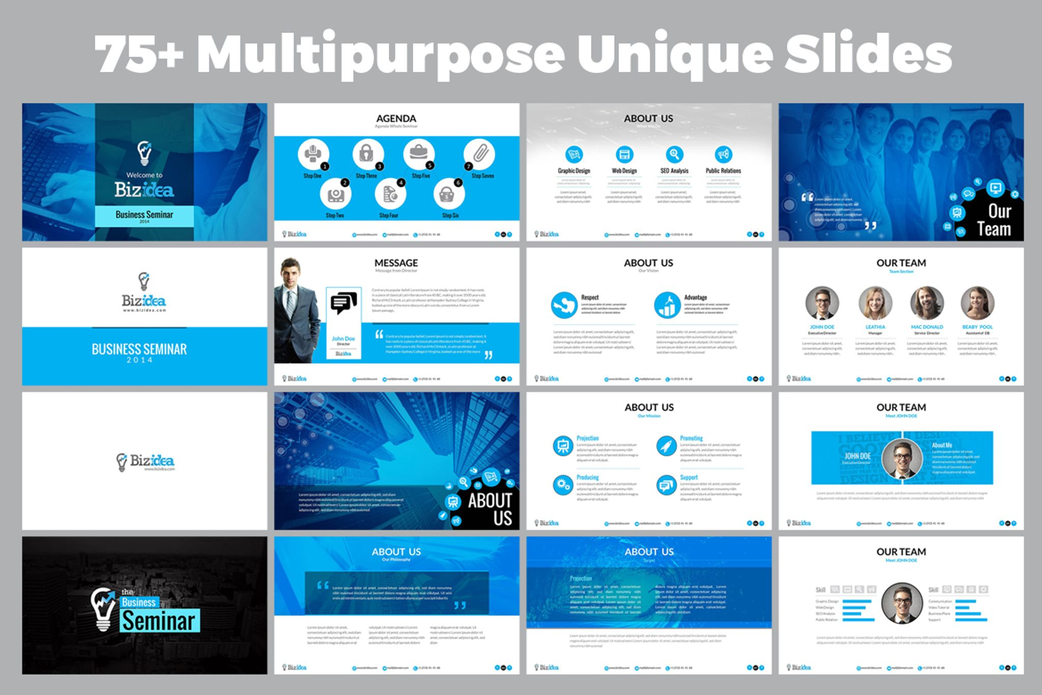Business presentation animated ppt and pptx powerpoint template 66878 zoom in flashek Image collections