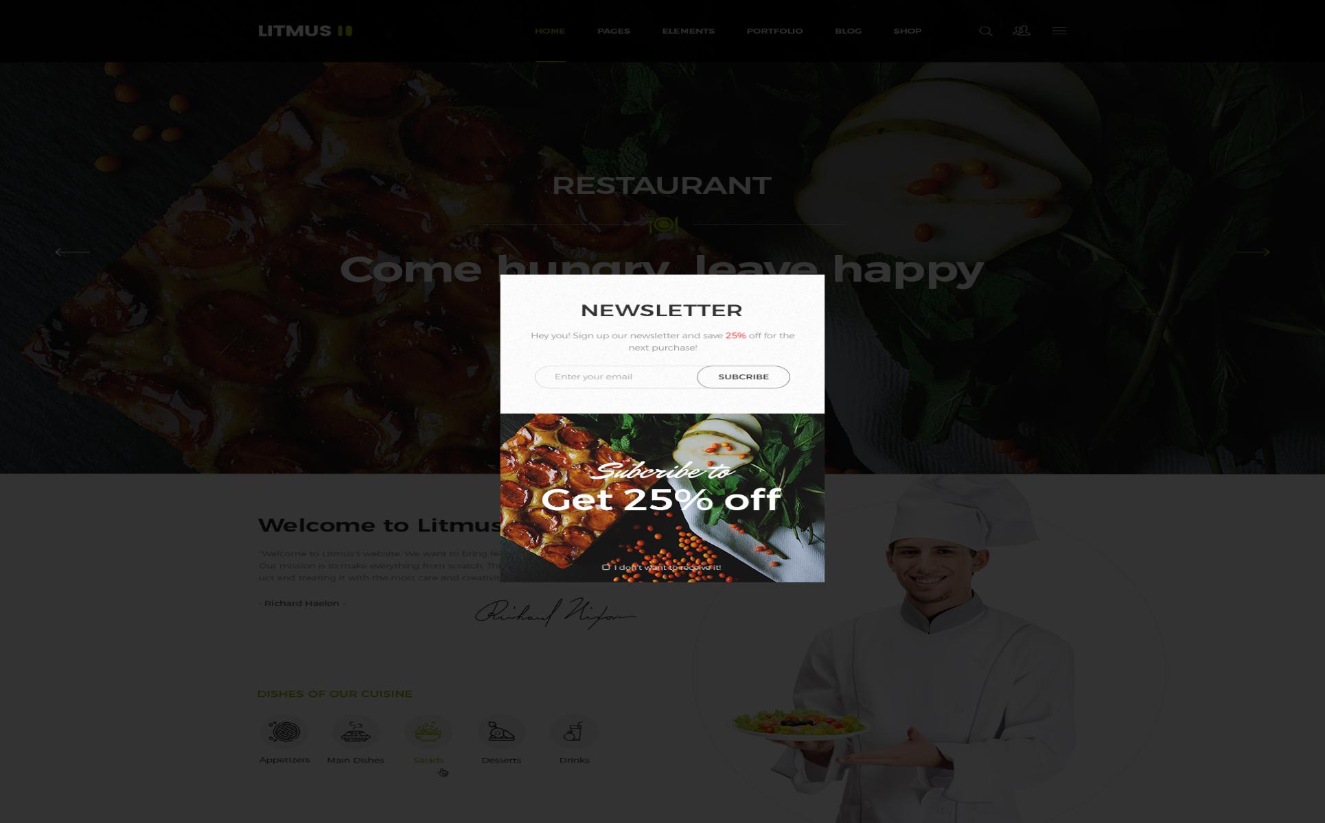 PSD Vorlage #66463 für Cafe und Restaurant