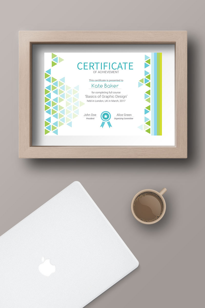 Triangles It Certificate Template 66327