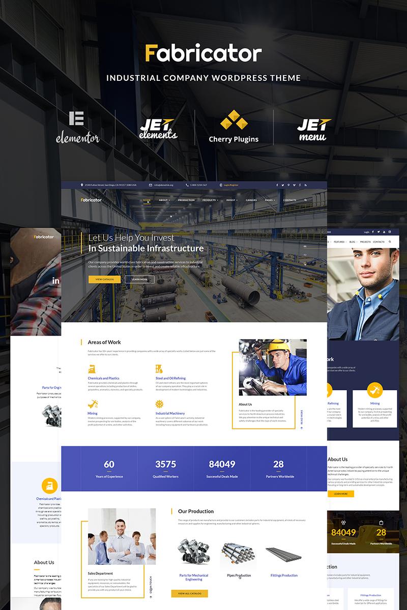 Адаптивный шаблон №66334 на тему бизнес и услуги, промышленность, металлургическая компания