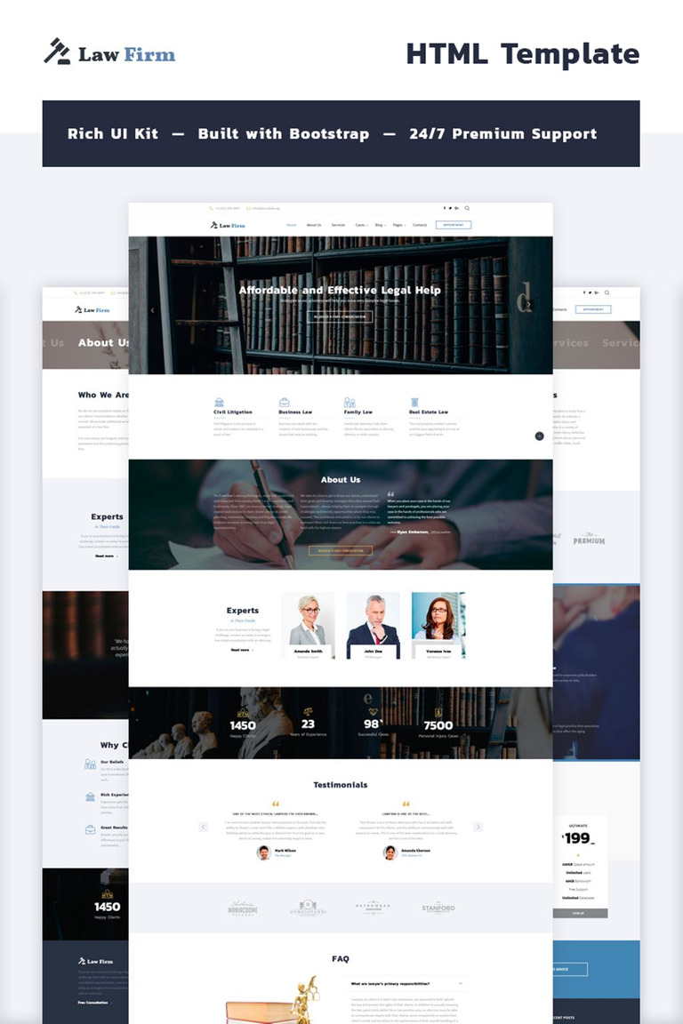 Law Firm Multipage Website Template