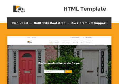 Real Estate Bootstrap HTML