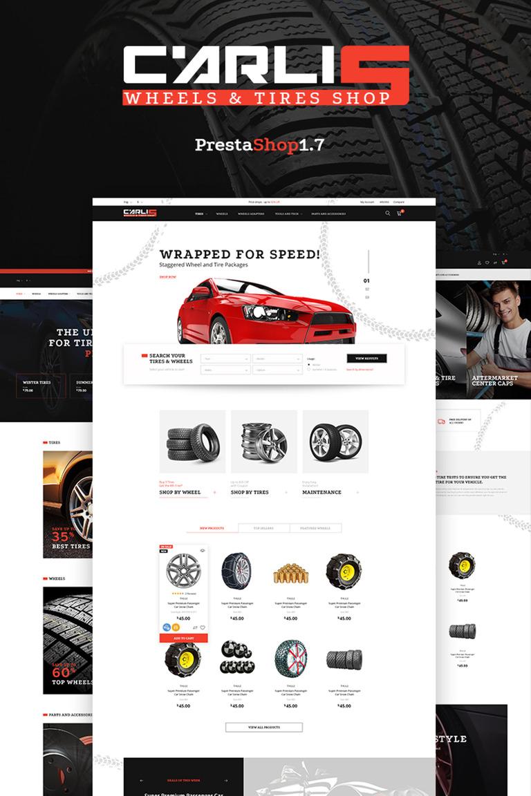 Tema de PrestaShop #66467 para Sitio de Repuestos de coches