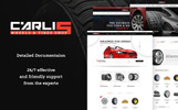 "PrestaShop Theme namens ""Carlis - Wheels & Tires Shop"""