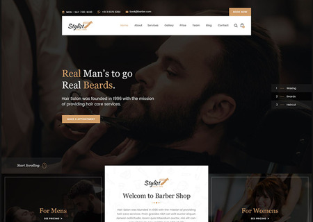 Stylist - Hair Salon Bootstrap Html