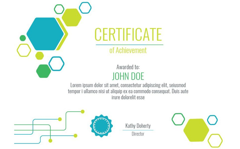 Technical 2 color variations Certificate Template #66466