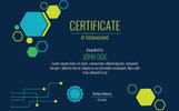 Technical 2 color variations Certificate Template