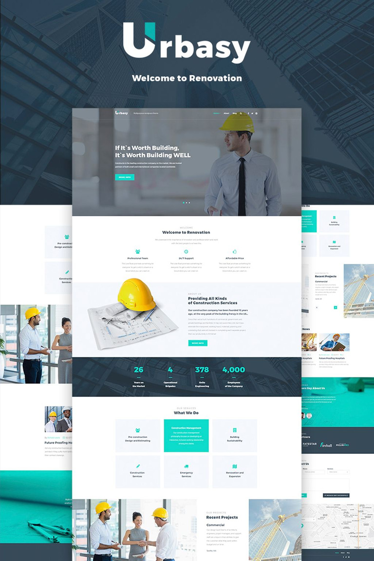 Urbasy - Construction Company WordPress Theme
