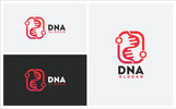 """DNA"" Logo template"