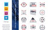 Logosammlung Vorlage für Designstudio