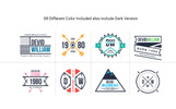 Retro Badge Logoset Template