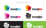 Business | Building | Business Growth Design | Trend Logo Template