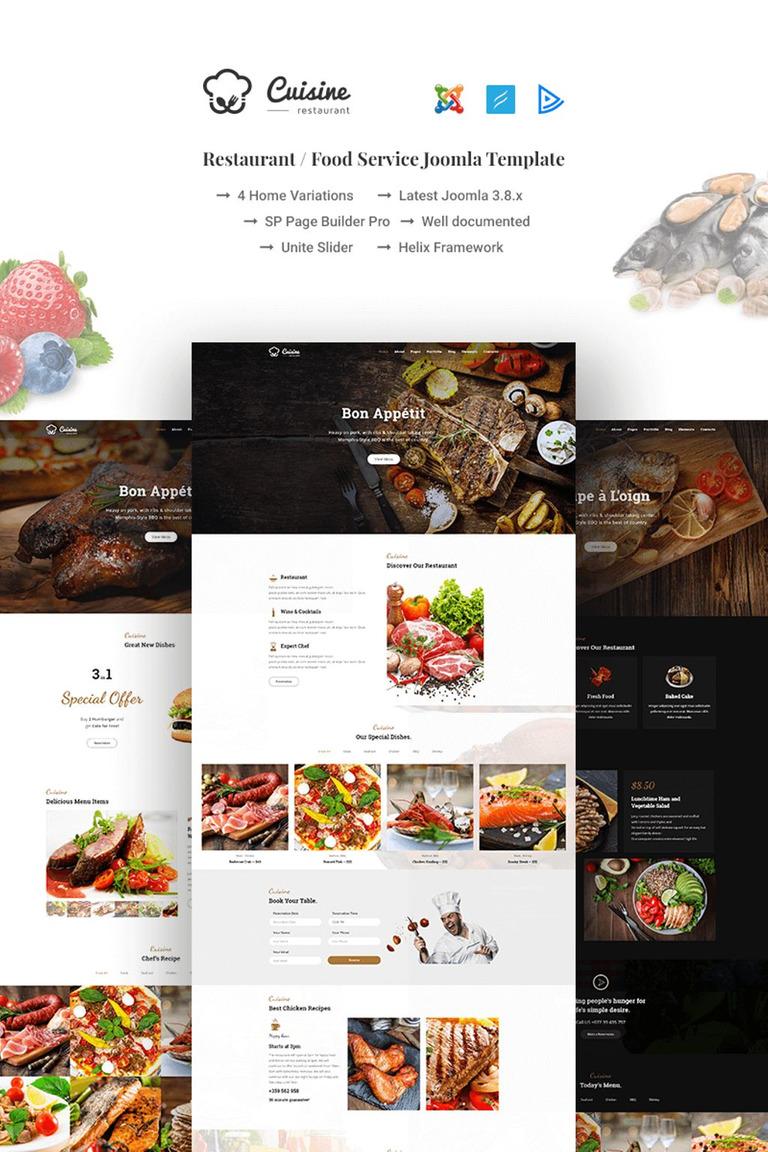 Cuisine restaurant food service joomla template 66965 cuisine restaurant food service joomla template new screenshots big forumfinder Images