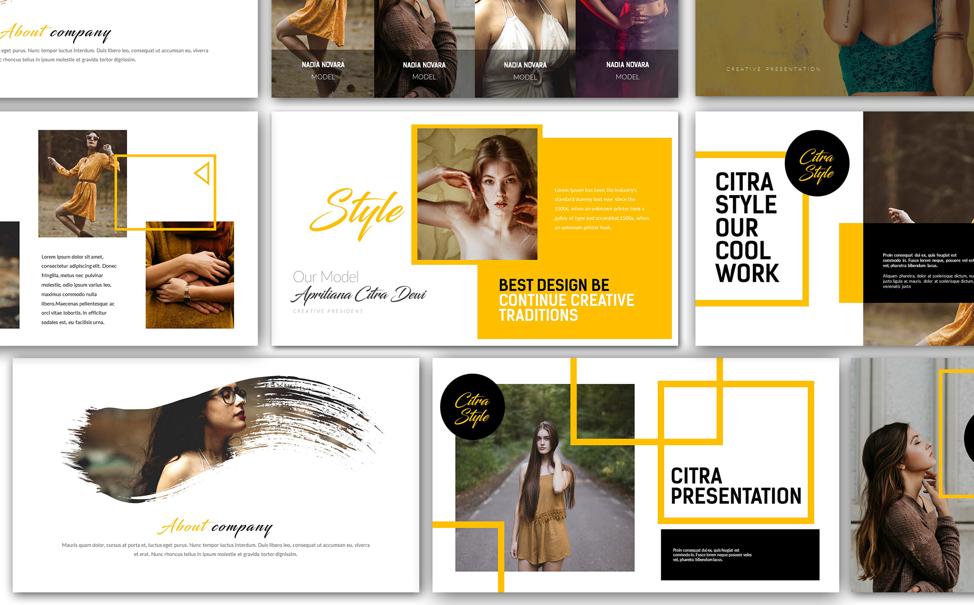 Citra Style Creative Keynote Template #66490