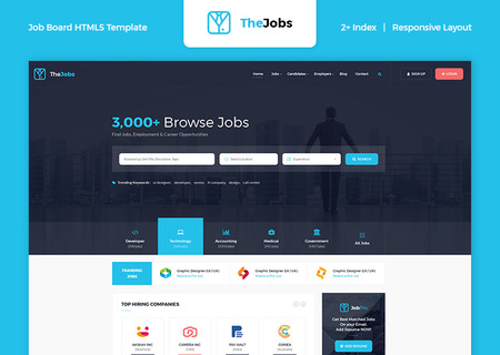 The Jobs - Job Board HTML