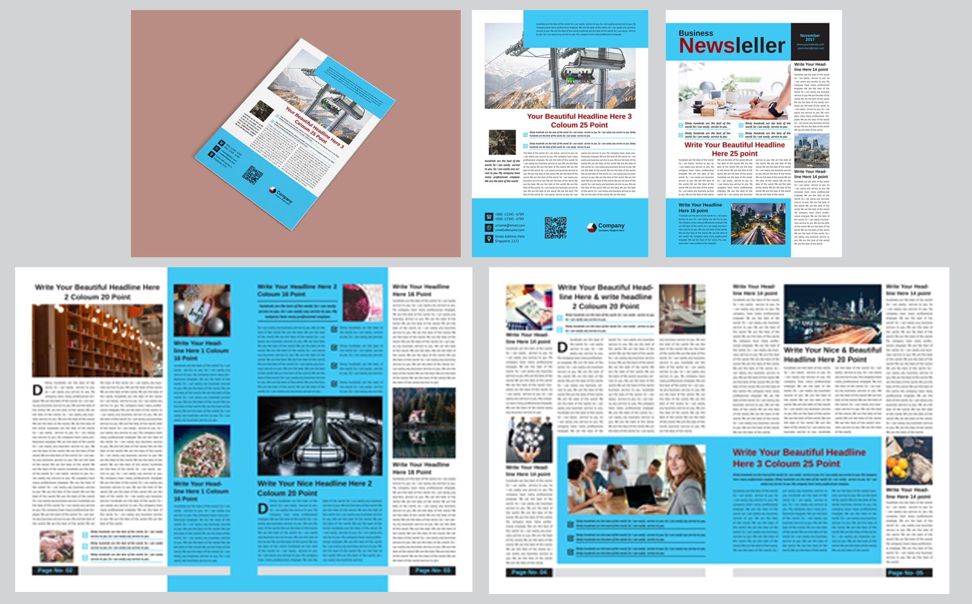 12 page company newsletter corporate identity template 66819