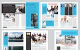 12 Page Company Newsletter Corporate Identity Template