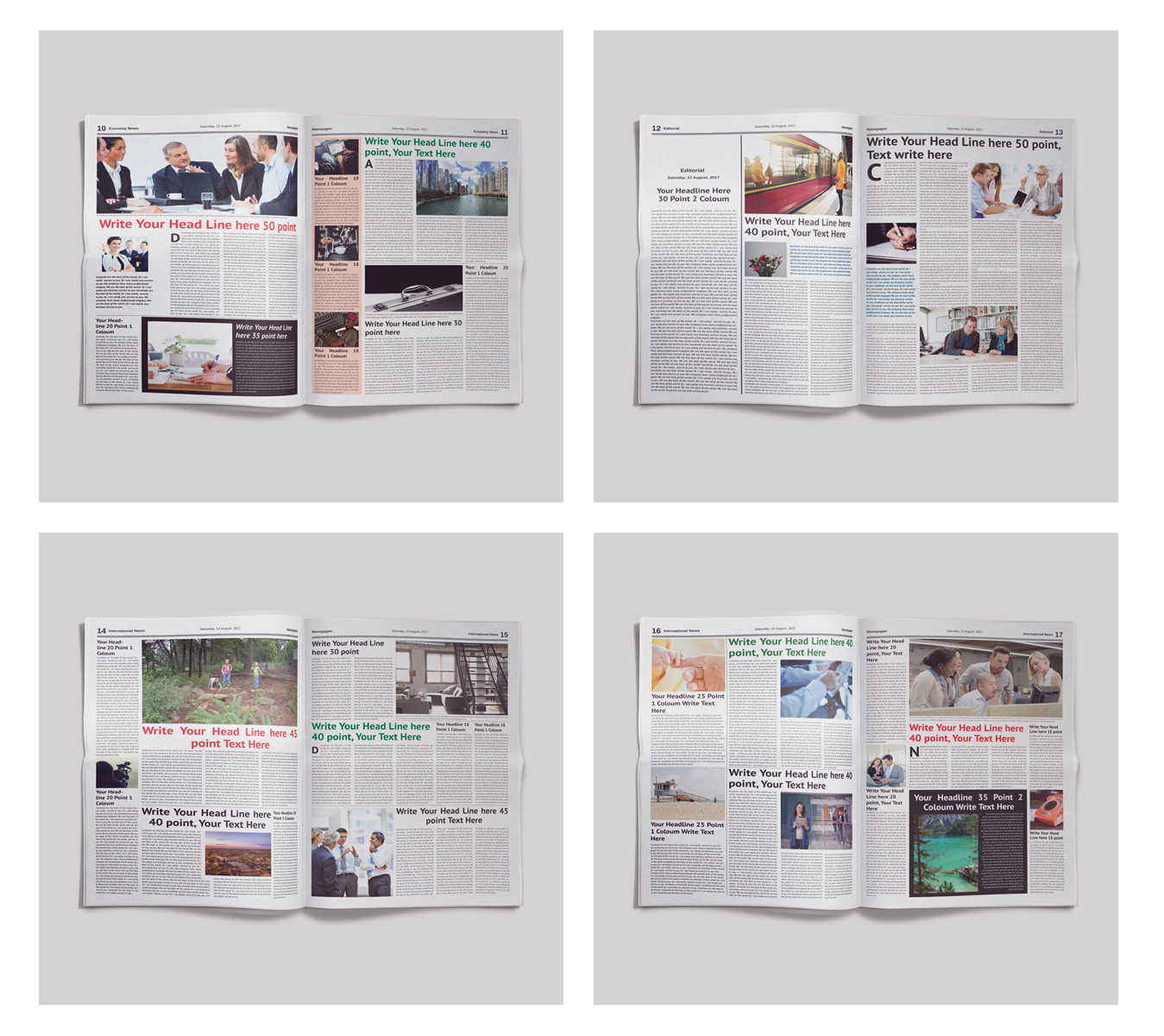 24 Pages Daily Newspaper Corporate Identity Template 66820