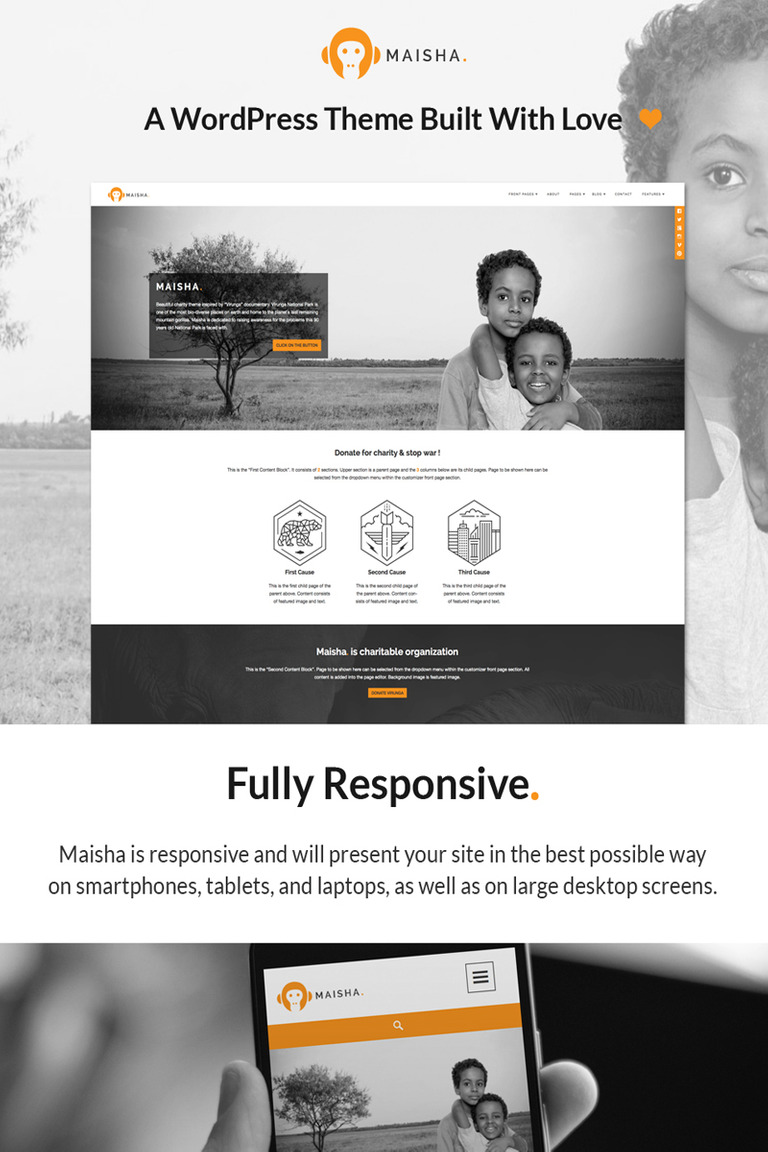 Maisha - Charity/Non-Profit WordPress Theme WordPress Theme Big Screenshot