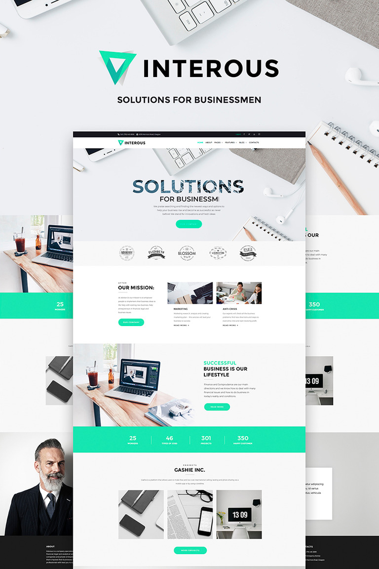 Interious business services wordpress theme 66493 interious business services wordpress theme big screenshot flashek