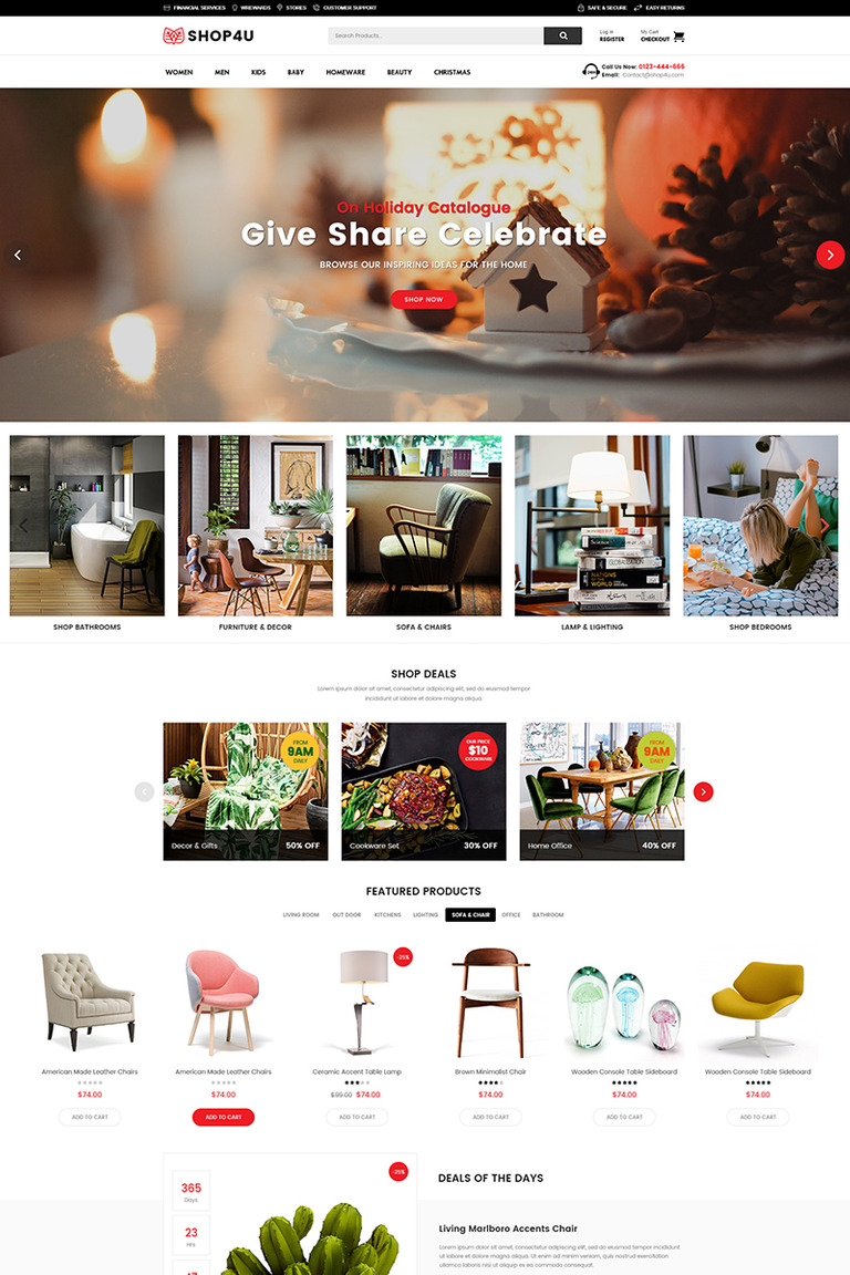 Shop4u modern marketplace woocommerce theme new screenshots big