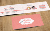 Floral Wedding Invitation Card Design  | You Are Invited | Wedding Suite Illustration