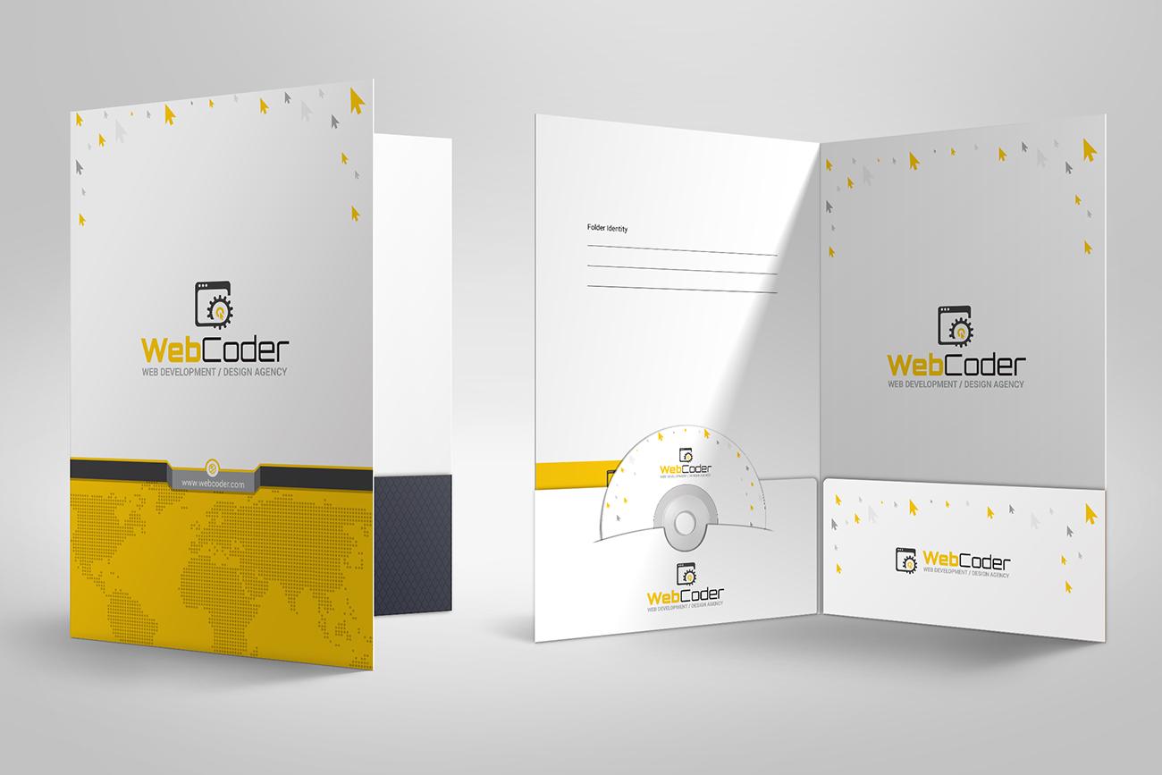 Presentation Folder | File Holder Corporate Identity Template #66915