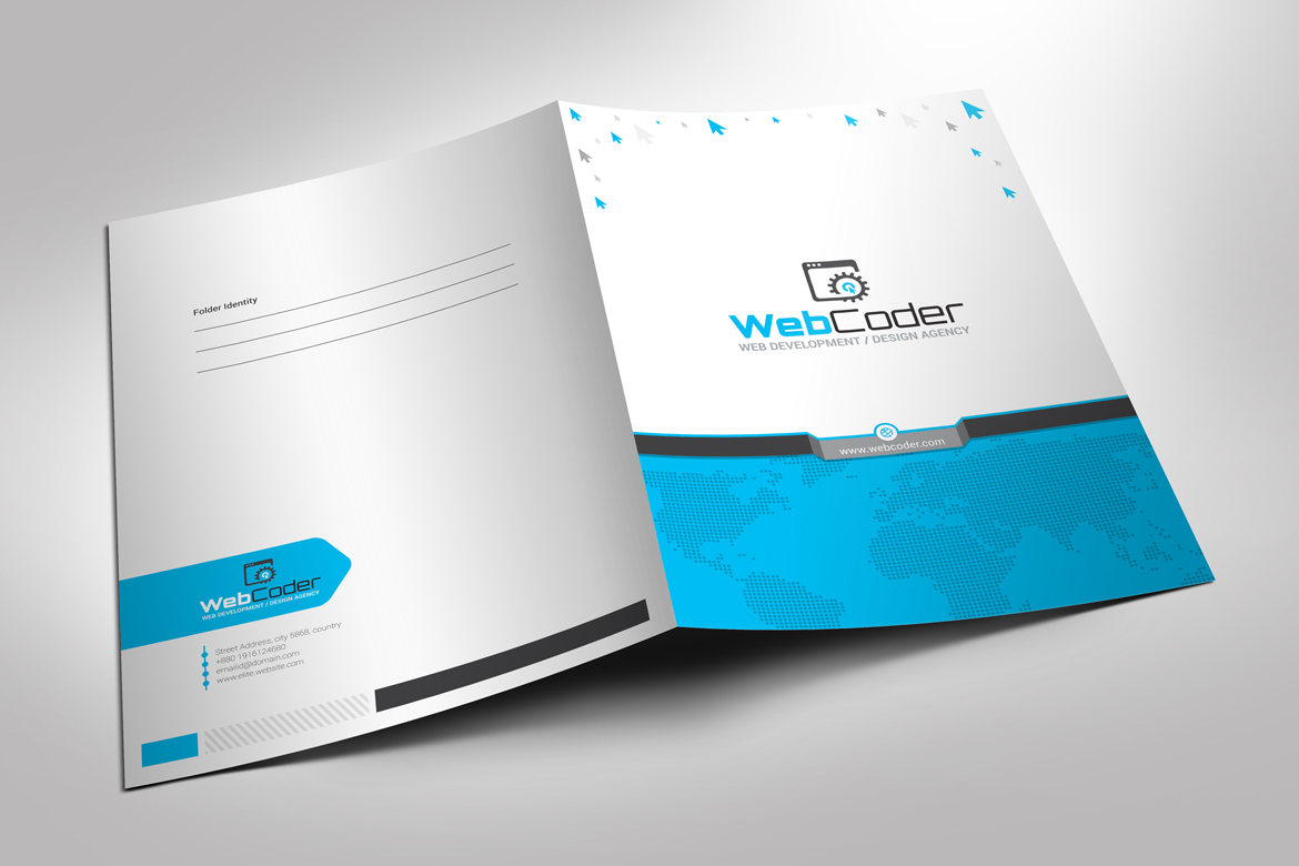Presentation folder file holder corporate identity template 66915 presentation folder file holder corporate identity template big screenshot wajeb Image collections