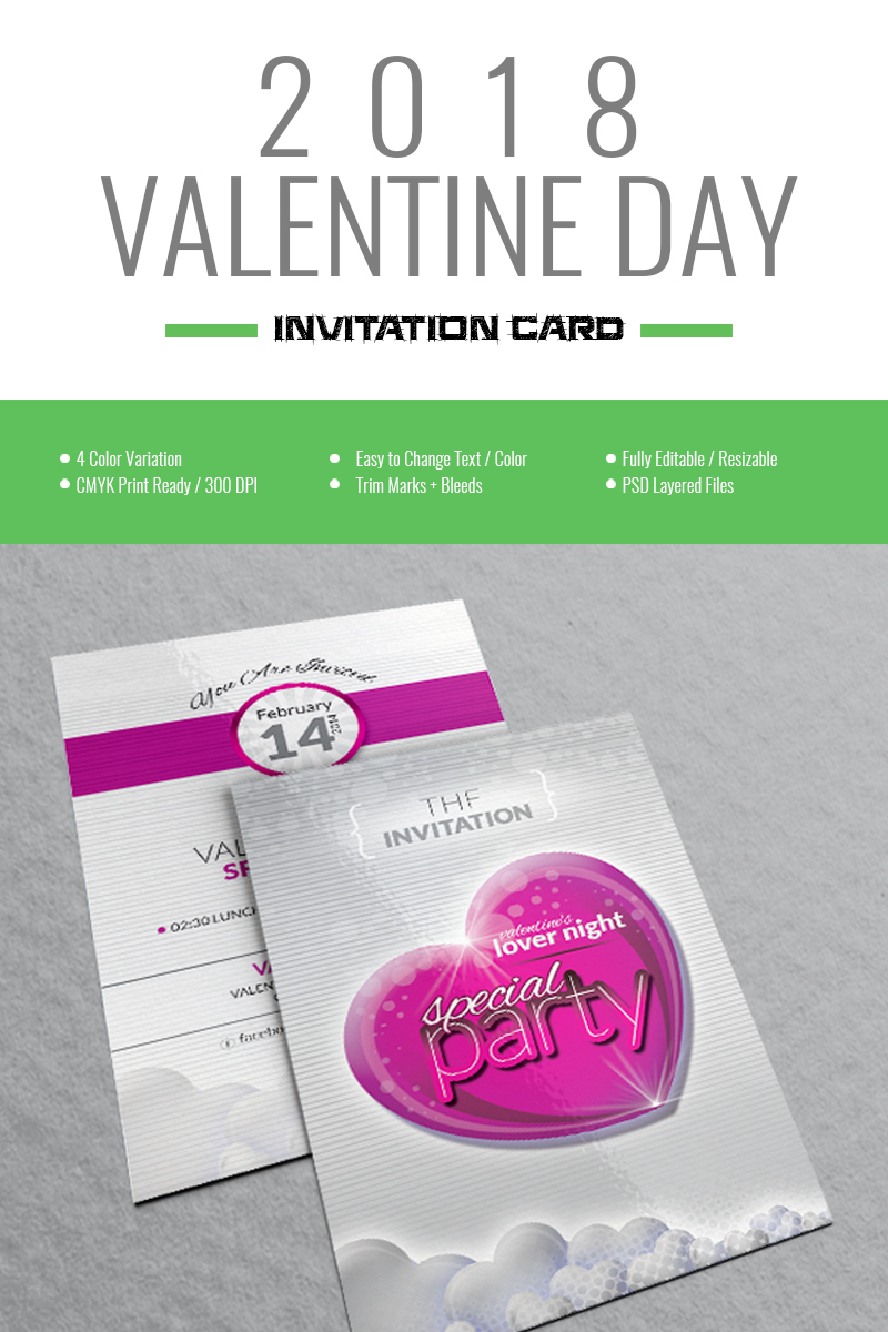 Valentine Day-Special Party Invitation Card Design Corporate ...