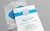 Valentine Day-Special Party Invitation Card Design Corporate Identity Template