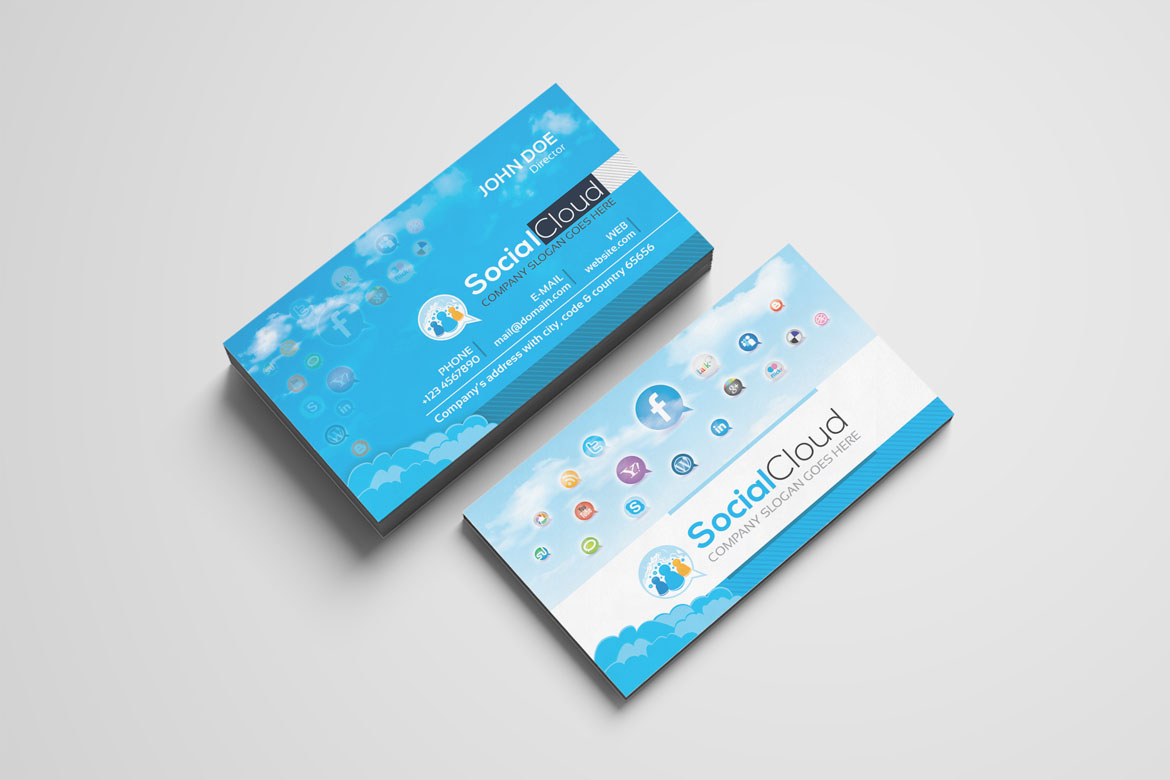 Social Media Business Card Corporate Ideny Template Screenshot