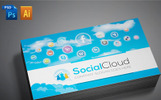 Social Media Business Card Corporate Identity Template