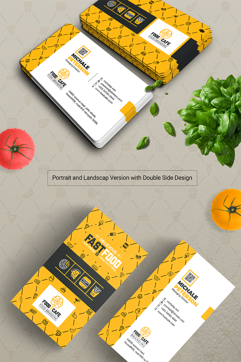 Business card for fast food company business card print custom business card for fast food company business card print custom business card digital print file corporate identity template 67193 cheaphphosting