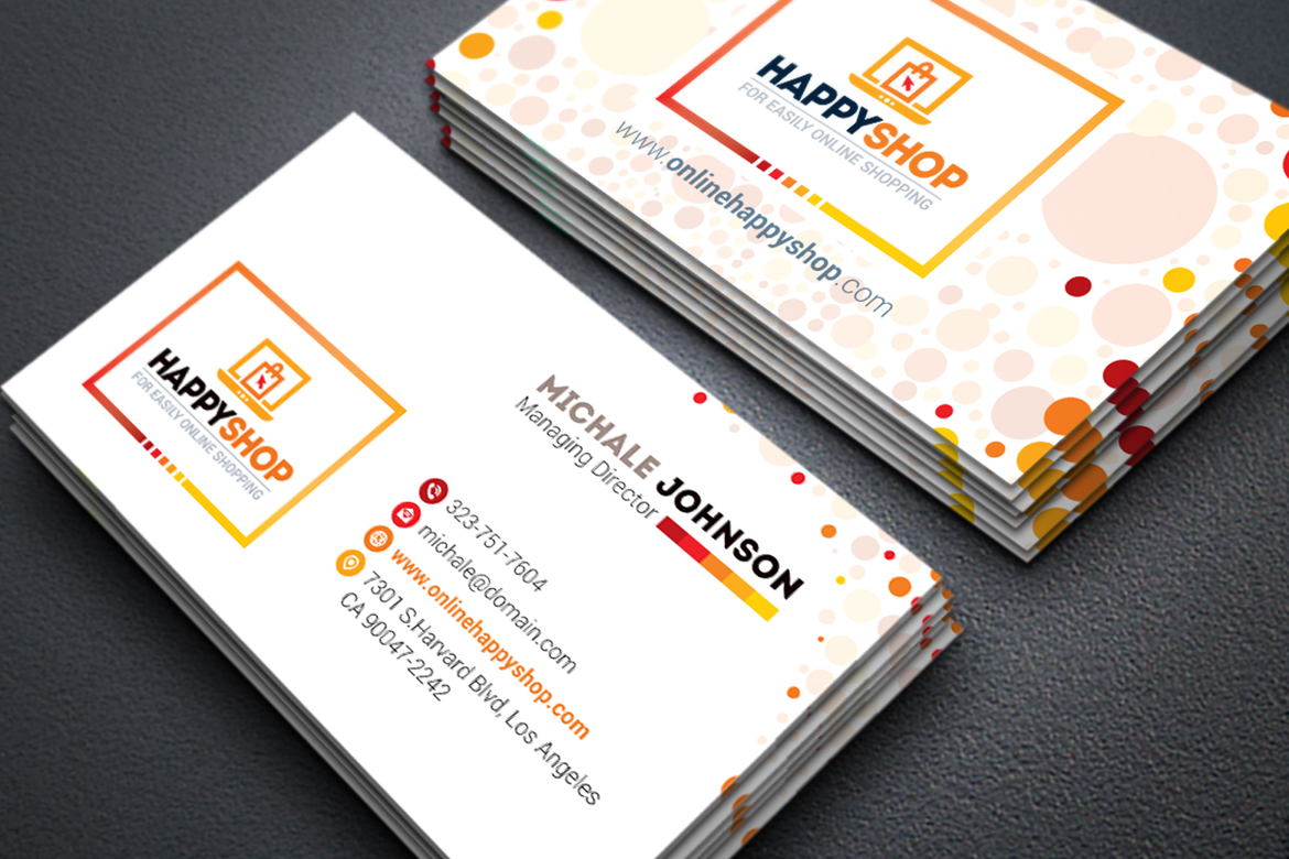 Business card for e commerce or online shop shopping mall business zoom in wajeb Image collections