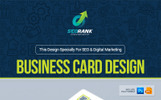 Business Card for SEO Search Engine Optimization and Digital Marketing Agency / Company : Portrait and Landscape Layout Corporate Identity Template