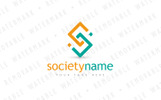 S Interlaced Squares - Logo Template