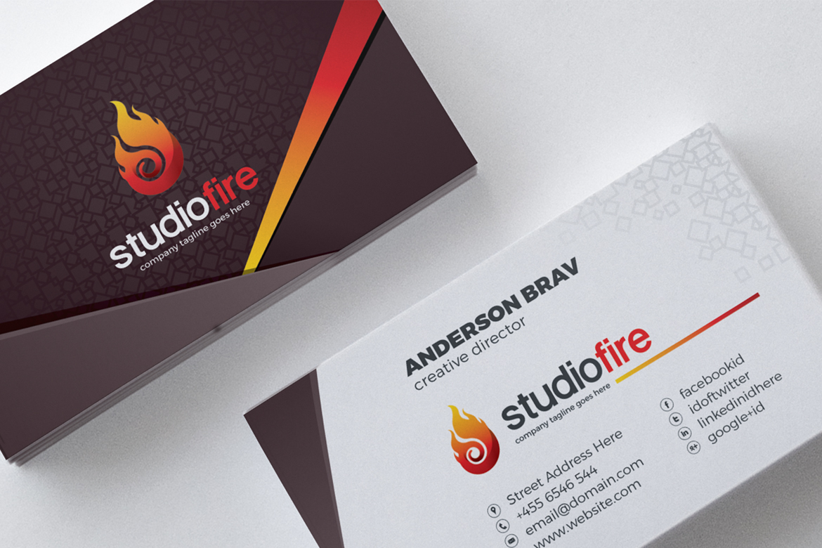 Business card corporate identity template 67489 business card corporate identity template big screenshot reheart Image collections
