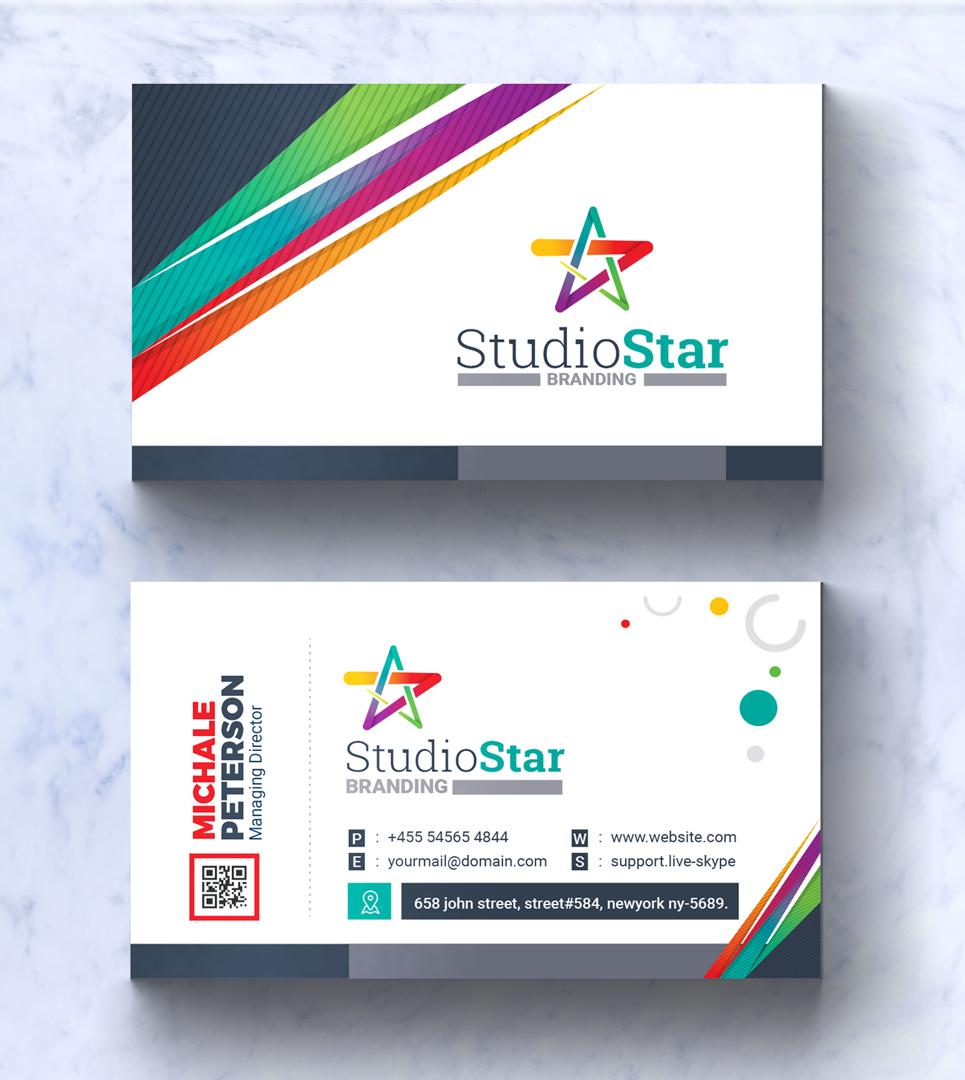 Business card corporate identity template 66929 business card corporate identity template big screenshot colourmoves