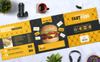 Fast Food Tri-Fold Brochure Corporate Identity Template Big Screenshot