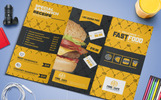 Fast Food Tri-Fold Brochure Corporate Identity Template