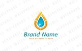 Plumbing Water Drop Logo Template