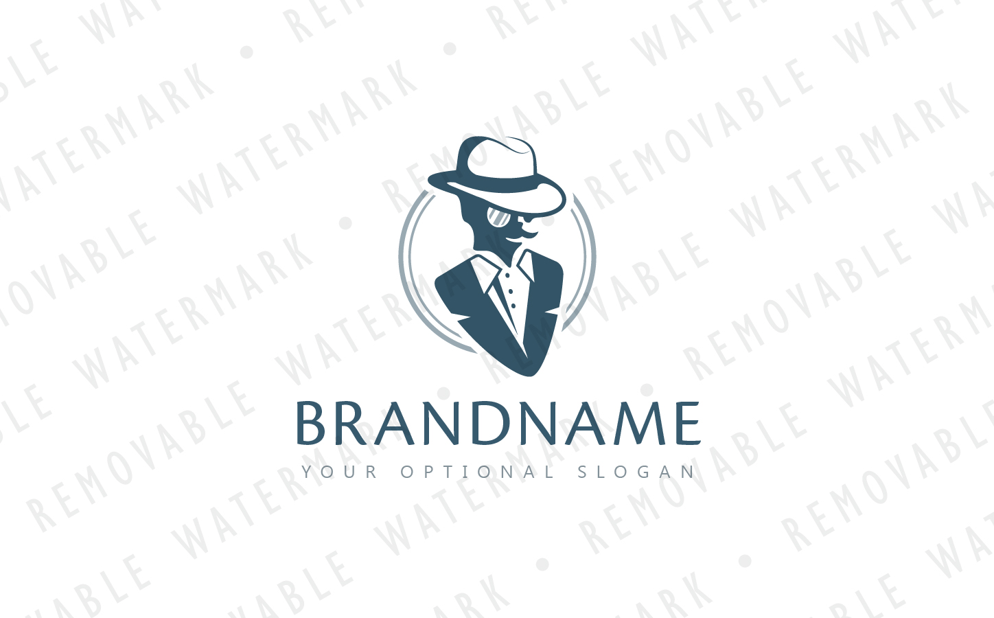 Gentleman Fashion Logo Template #66810